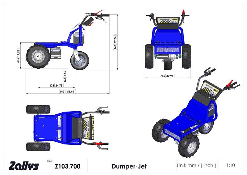 Dumper Jet elett. passo 700
