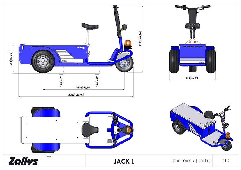 Jack L 900W 1/22 passo 1400 batt. 80A