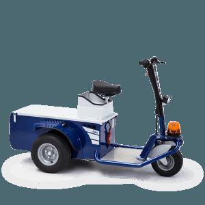 veicoli elettrici Zallys, mezzo elettrico uomo a bordo, scooter elettrico, veicolo elettrico per trasporto persone